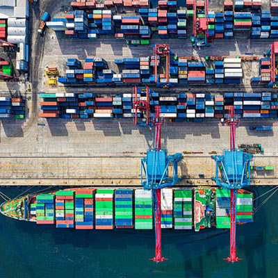 Overseas Shipping Containers and Port