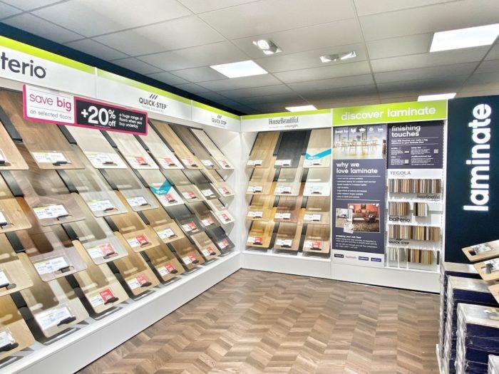 Hard Flooring Retail Display Stands
