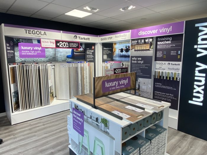 Hard Flooring Retail Display for Carpetright