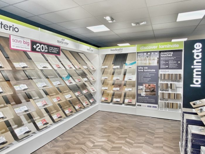 Carpetright Flooring Display in Showroom