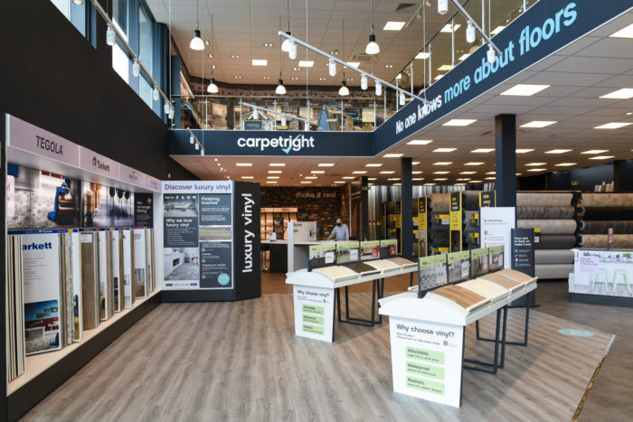 Retail Displays for Carpetright Concept Store